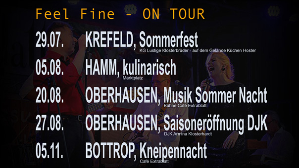 Feel Fine on Tour